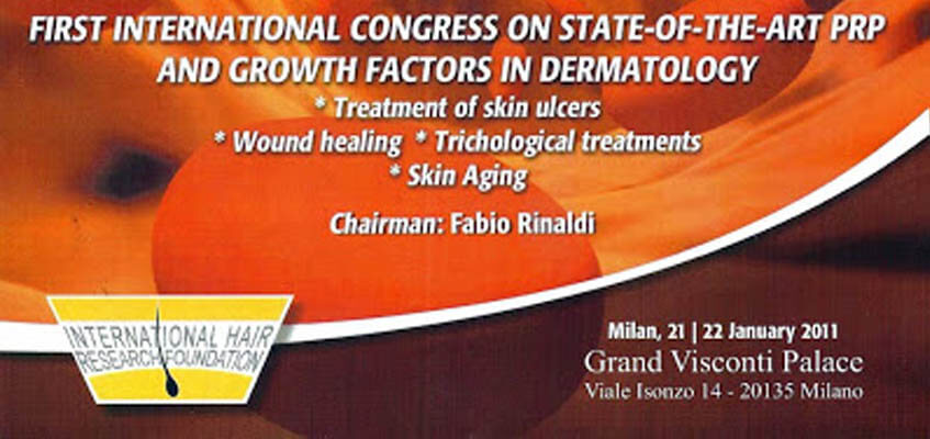 First Internation Congress on State of the Art PRP and Growth Factors in Dermatology